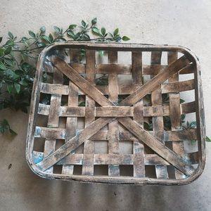 Wood Woven Basket